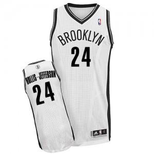 Brooklyn Nets Rondae Hollis-Jefferson #24 Home Authentic Maillot d'équipe de NBA - Blanc pour Homme