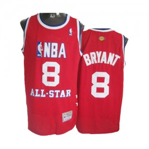 Los Angeles Lakers #8 Mitchell and Ness Throwback 2003 All Star Rouge Swingman Maillot d'équipe de NBA achats en ligne - Kobe Bryant pour Homme