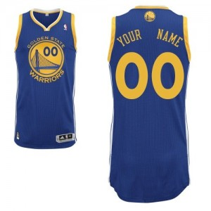 Maillot NBA Bleu royal Authentic Personnalisé Golden State Warriors Road Enfants Adidas