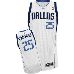 Maillot NBA Blanc Chandler Parsons #25 Dallas Mavericks Home Authentic Homme Adidas