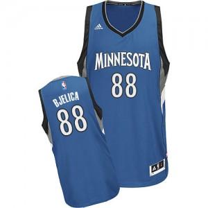 Maillot NBA Minnesota Timberwolves #88 Nemanja Bjelica Slate Blue Adidas Swingman Road - Homme