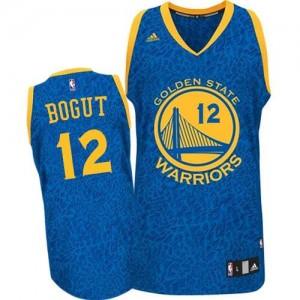 Golden State Warriors Andrew Bogut #12 Crazy Light Authentic Maillot d'équipe de NBA - Bleu pour Homme