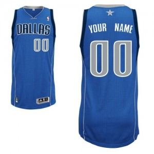 Maillot Adidas Bleu royal Road Dallas Mavericks - Authentic Personnalisé - Enfants