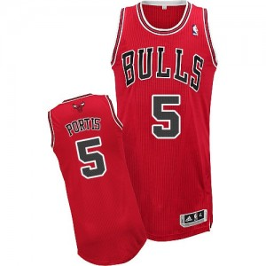 Maillot Adidas Rouge Road Authentic Chicago Bulls - Bobby Portis #5 - Homme
