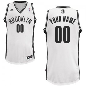 Maillot NBA Brooklyn Nets Personnalisé Swingman Blanc Adidas Home - Enfants