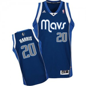 Dallas Mavericks Devin Harris #20 Alternate Swingman Maillot d'équipe de NBA - Bleu marin pour Homme