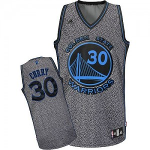 Maillot Authentic Golden State Warriors NBA Static Fashion Gris - #30 Stephen Curry - Femme