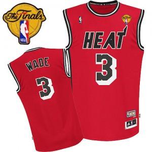 Maillot NBA Swingman Dwyane Wade #3 Miami Heat Hardwood Classics Nights Finals Patch Rouge - Enfants
