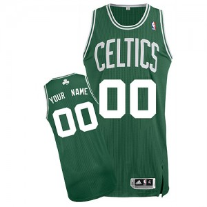 Maillot Adidas Vert (No Blanc) Road Boston Celtics - Authentic Personnalisé - Homme