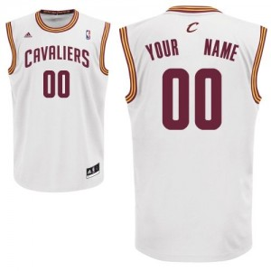 Maillot NBA Blanc Swingman Personnalisé Cleveland Cavaliers Home Homme Adidas