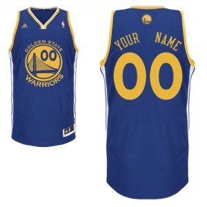 Maillot Adidas Bleu royal Road Golden State Warriors - Swingman Personnalisé - Homme