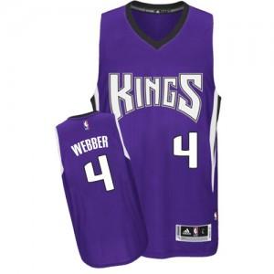 Sacramento Kings #4 Adidas Road Violet Authentic Maillot d'équipe de NBA Expédition rapide - Chris Webber pour Homme