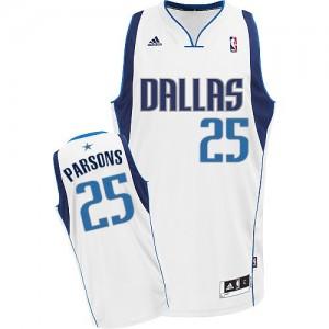 Dallas Mavericks #25 Adidas Home Blanc Swingman Maillot d'équipe de NBA à vendre - Chandler Parsons pour Homme