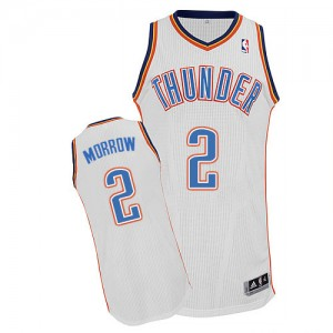 Maillot NBA Oklahoma City Thunder #2 Anthony Morrow Blanc Adidas Authentic Home - Homme