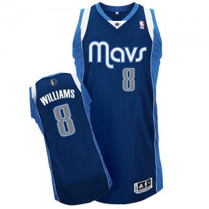 Dallas Mavericks #8 Adidas Alternate Bleu marin Authentic Maillot d'équipe de NBA Braderie - Deron Williams pour Homme