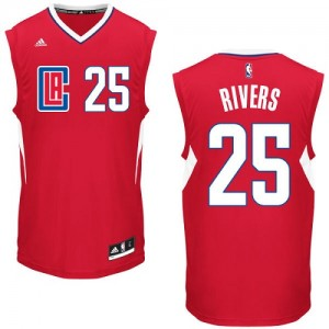 Maillot NBA Los Angeles Clippers #25 Austin Rivers Rouge Adidas Swingman Road - Homme