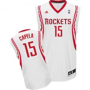 Houston Rockets #15 Adidas Home Blanc Swingman Maillot d'équipe de NBA Promotions - Clint Capela pour Homme