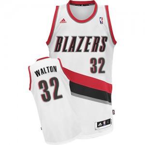 Maillot NBA Portland Trail Blazers #32 Bill Walton Blanc Adidas Swingman Home - Homme