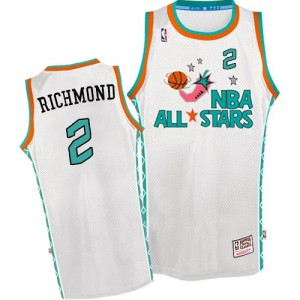 Sacramento Kings Mitchell and Ness Mitch Richmond #2 Throwback 1996 All Star Authentic Maillot d'équipe de NBA - Blanc pour Homme
