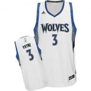 Maillot Adidas Blanc Home Swingman Minnesota Timberwolves - Adreian Payne #3 - Homme