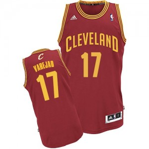 Maillot NBA Swingman Anderson Varejao #17 Cleveland Cavaliers Road Vin Rouge - Homme