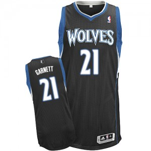 Minnesota Timberwolves #21 Adidas Alternate Noir Authentic Maillot d'équipe de NBA pas cher en ligne - Kevin Garnett pour Homme
