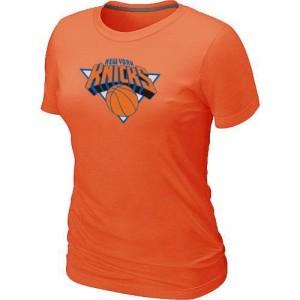 T-shirt principal de logo New York Knicks NBA Big & Tall Orange - Femme