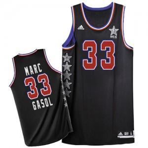 Memphis Grizzlies #33 Adidas 2015 All Star Noir Authentic Maillot d'équipe de NBA préférentiel - Marc Gasol pour Homme