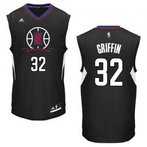 Los Angeles Clippers #32 Adidas Alternate Noir Authentic Maillot d'équipe de NBA Vente - Blake Griffin pour Homme