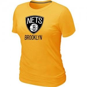 Tee-Shirt NBA Brooklyn Nets Jaune Big & Tall - Femme
