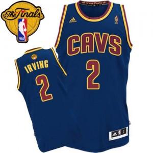 Cleveland Cavaliers #2 Adidas CavFanatic 2015 The Finals Patch Bleu marin Authentic Maillot d'équipe de NBA Expédition rapide - Kyrie Irving pour Homme