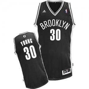 Maillot Adidas Noir Road Swingman Brooklyn Nets - Thaddeus Young #30 - Enfants