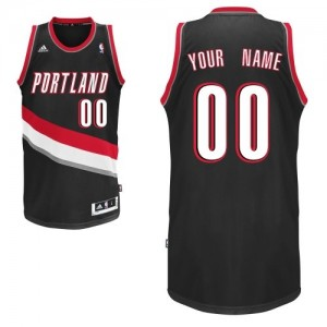 Maillot NBA Swingman Personnalisé Portland Trail Blazers Road Noir - Enfants