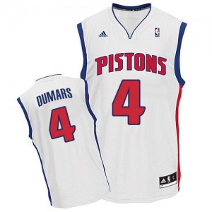 Maillot NBA Swingman Joe Dumars #4 Detroit Pistons Home Blanc - Homme